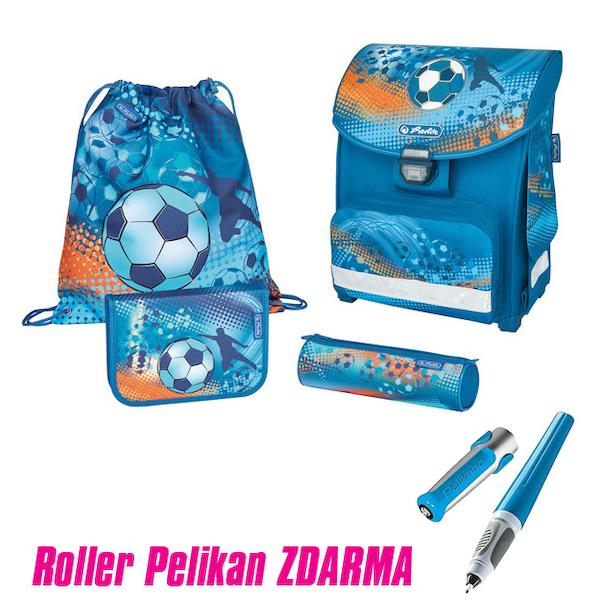 Taška školní anatomická Smart Fotbal vybavená 302689