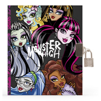 Diář A5 se zámkem Monster High