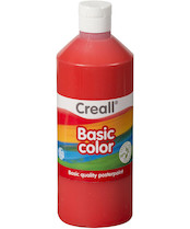 Tempera Creall basic 500ml červená