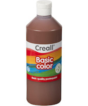 Tempera Creall basic 500ml hnědá