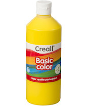 Tempera Creall basic 500ml žlutá