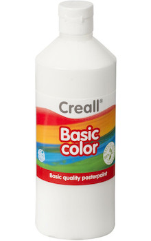 Tempera Creall basic 500ml bílá